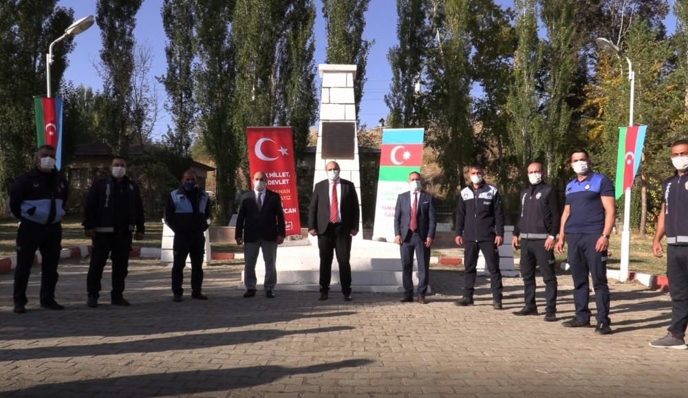 Erzurumlu zabıtalar Azerbaycan'a destek için hazırda bekliyor