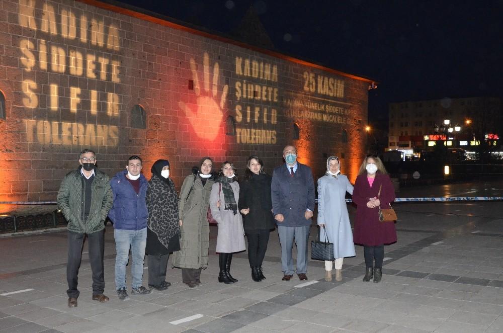 Erzurum'da 25 Kasım Kadına Yönelik Şiddetle Mücadele Gününde Farkındalık Çalışması