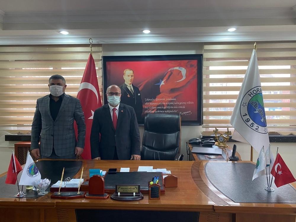 Horasan Belediyesi'nde toplu sözleşme sevinci