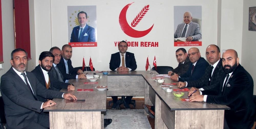 Yeniden Refah Partisi Palandöken teşkilatında görev dağılımı yapıldı