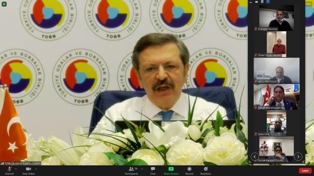 """""""Erzurum İş Dünyası Müşterek İstişare Toplantısı"""" TOBB Başkanı Hisarcıklıoğlu'nun katılımıyla gerçekleştirildi"""