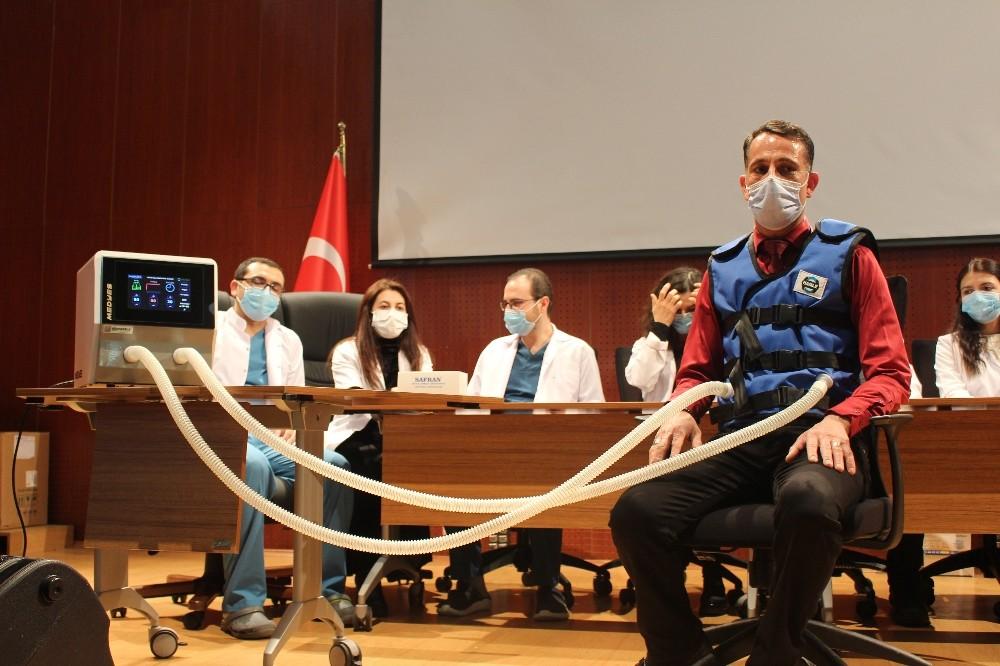 Korona virüs hastaları milli cihaz ile daha kolay nefes alacak