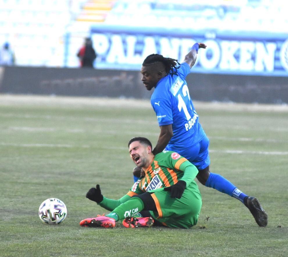 Süper Lig: BB Erzurumspor: 1 – Alanyaspor: 0 (İlk yarı)