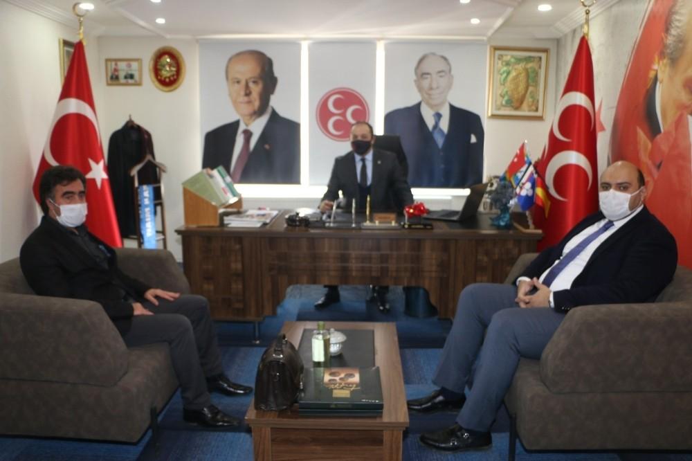 Aziziye Belediye Başkanı Orhan'dan MHP İl Başkanlığı'na ziyaret