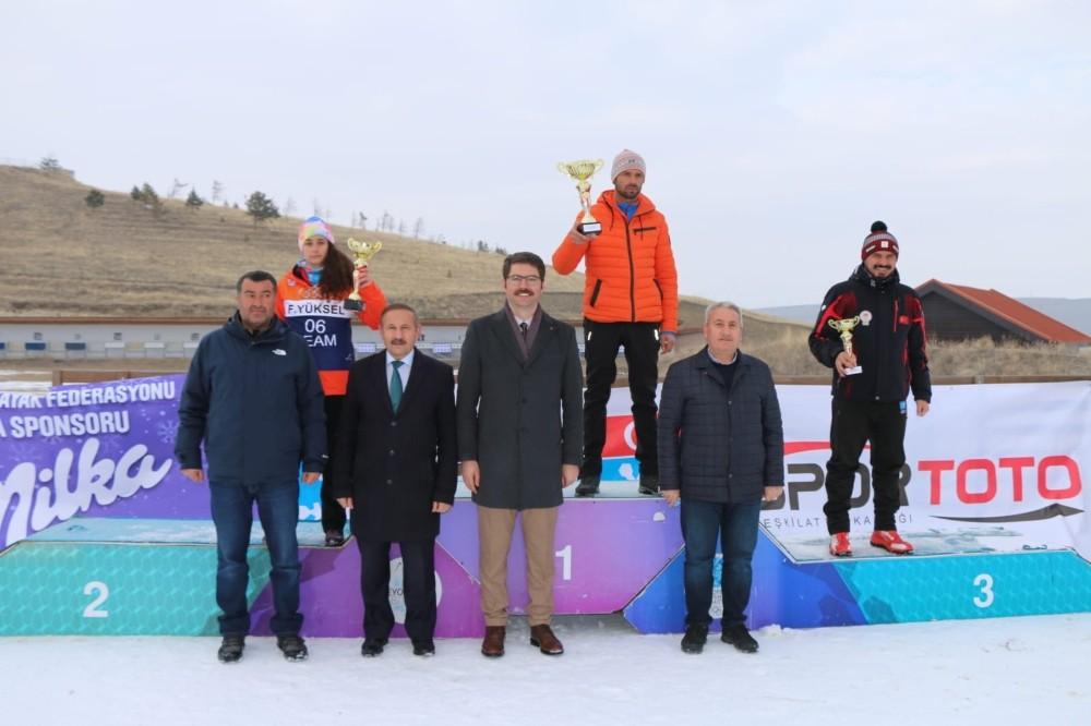 Erzurum'da düzenlenen Biatlon Türkiye Şampiyonası sona erdi
