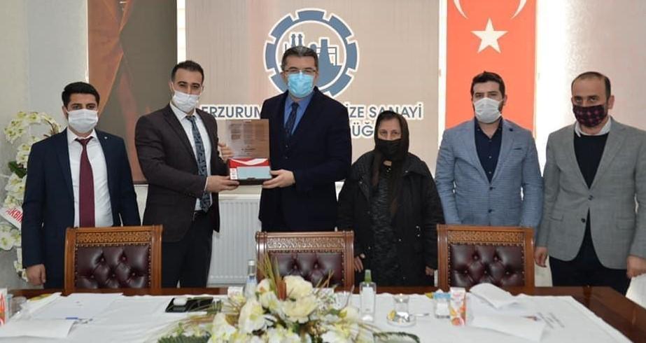 """HKMO Bölge Başkanı Yıldırım: """"Vali Memiş Erzurum için bir şanstır, çalışmalarını takdirle izliyoruz."""