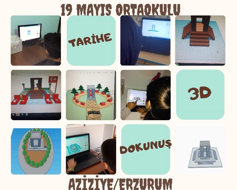 """Öğrencilerden """"Tarihe 3D dokunuş"""" projesi"""