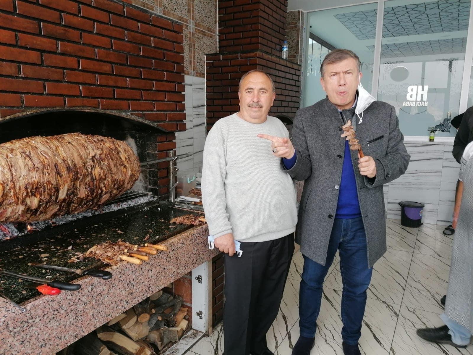 Tanju Çolak, Oltu Cağ kebabının tadına hayran kaldı