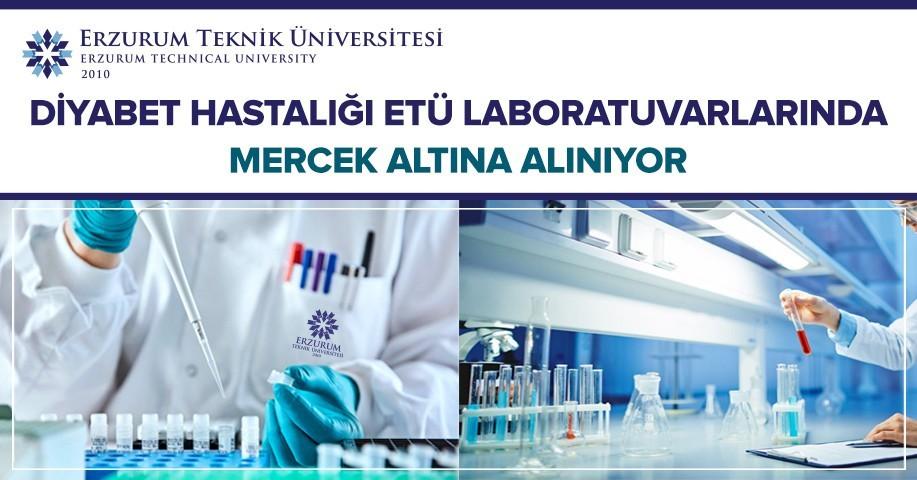 Diyabet hastalığı ETÜ laboratuvarlarında mercek altına alınıyor