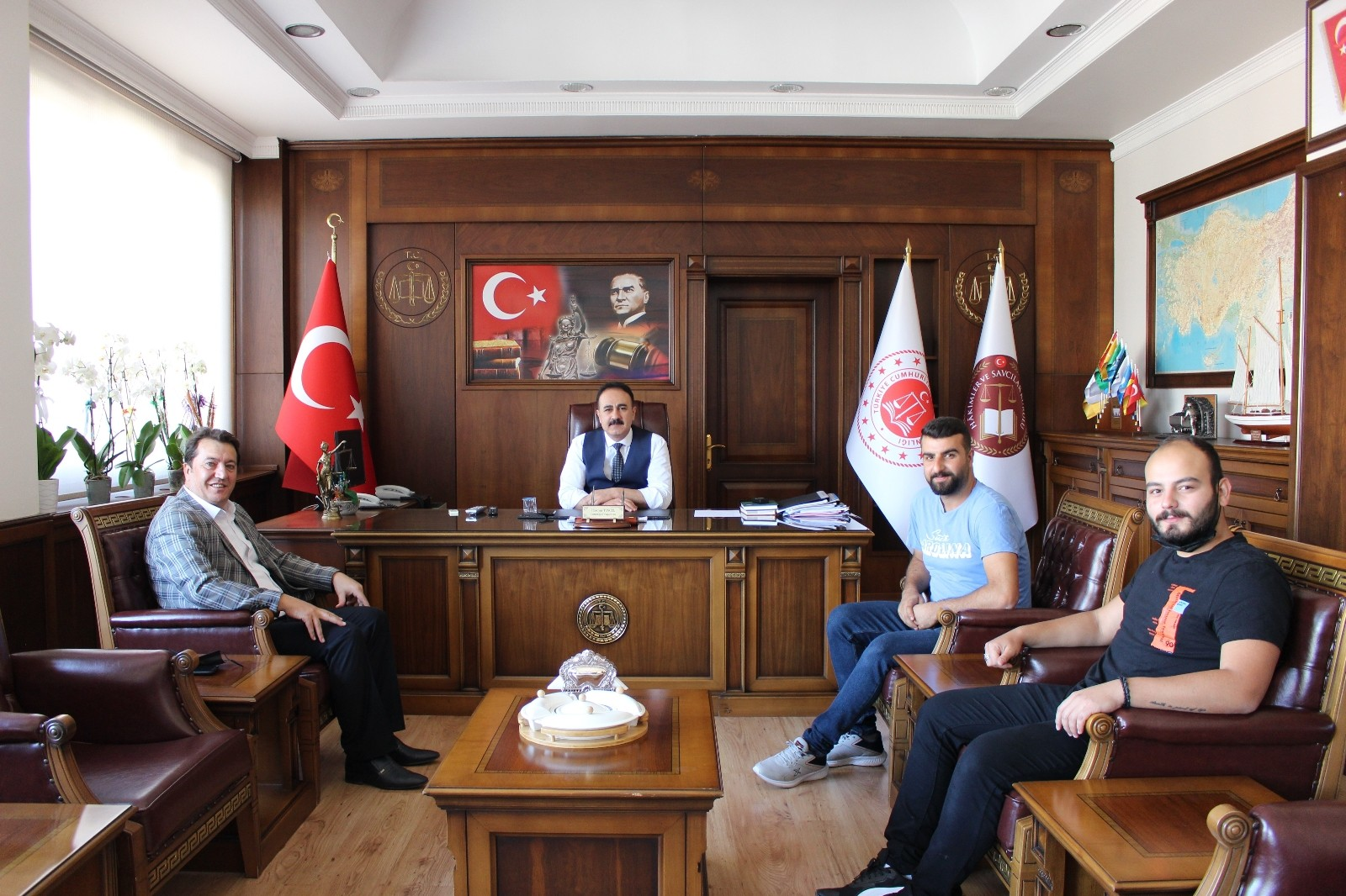 İHA Bölge Müdürü Türkez'den Başsavcı Tuncel'e ziyaret
