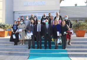 ISIF'21 heyeti başarılarını Rektör Çomaklı ile paylaştı