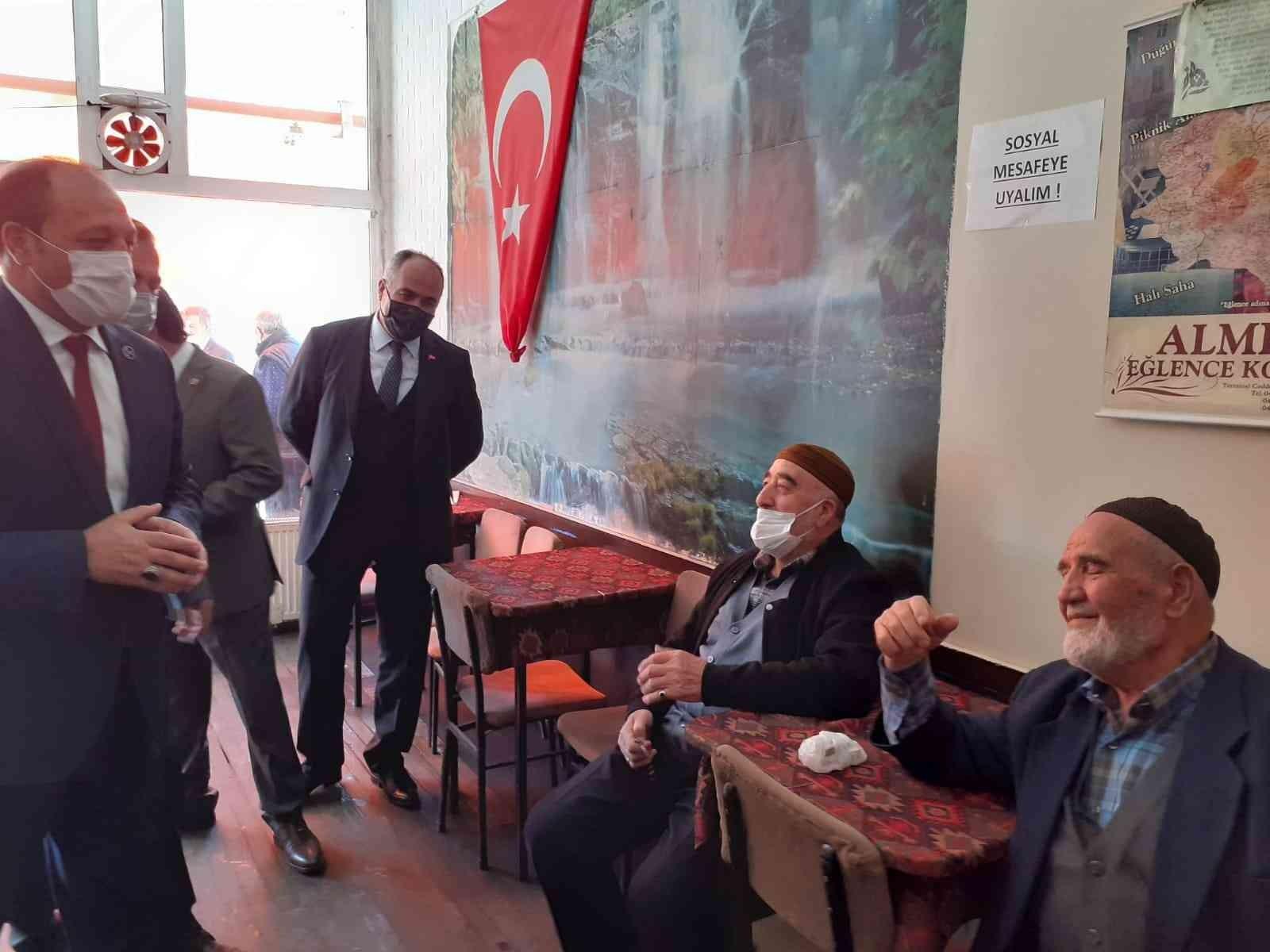 MHP İl Başkanı Karataş'tan esnaf ziyareti